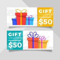 Flache Geschenkgutscheinvorlage