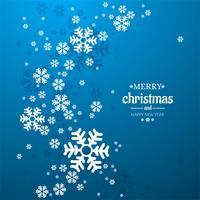 Dekorativer Hintergrund der frohen Weihnachten der Schneeflocke vektor