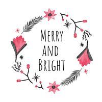 Netter Weihnachtskranz zur Weihnachtsjahreszeit vektor