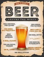 Wie man ein Bier um die Welt bestellt vektor