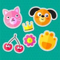 katt och hund klistermärken