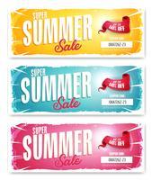 Hot Summer Sale Banner mit Gutscheincode vektor