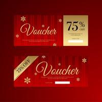 Weihnachtsschneeflocke-Geschenkgutschein vektor