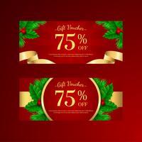 Weihnachts-Heilig-Baum-Geschenkgutschein-Vorlagen