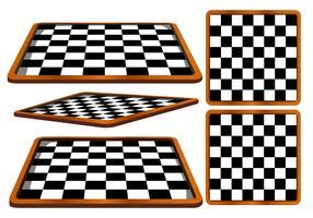 Schachbrett-Winkel-Vektor vektor