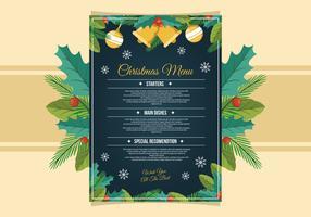 Weihnachtsessen Menüvorlage vektor