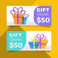 Flache moderne Geschenkgutscheinvorlage