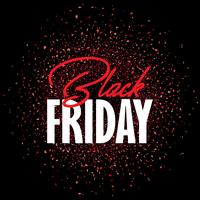 Black Friday-Verkaufshintergrund mit Konfetti