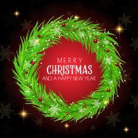Jul krans bakgrund vektor