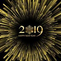 Frohes neues Jahr-Starburst-Hintergrund