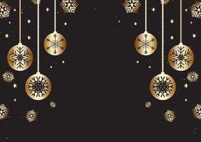 Weihnachtshintergrund im Gold und im Schwarzen