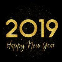 Guld gnista Gott nytt år bakgrund vektor