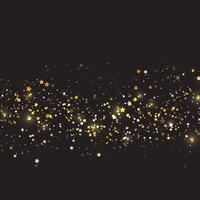 Jul bakgrund med guld stjärnor design vektor
