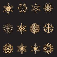 Jul snöflinga samling