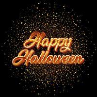 Glad Halloween glitter konfetti bakgrund vektor