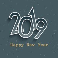 Gott nytt år retro stil bakgrund