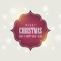 Jul bakgrund med dekorativ text