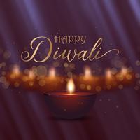 Dekorativ Diwali bakgrundsdesign