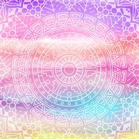Elegant mandala design på akvarellstruktur vektor