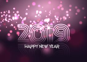 Dekorativt Gott nytt år bakgrund vektor