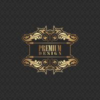 Elegantes Hintergrunddesign mit erstklassigem Logo