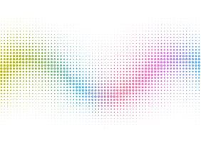 Regenbogen-Halbton punktiert Hintergrund vektor