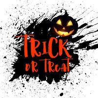 Grunge Halloween Hintergrund mit Kürbis vektor