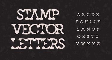 Schreibmaschinen-Stempel-Alphabet. Schmelzsegment atemberaubende Schriftart, Tintenflecktyp für Vintage-Logo, Überschrift, Monogramm, kreative Schrift und Retro-Typografie. minimaler Stil ohne Buchstaben, Vektortypografie vektor