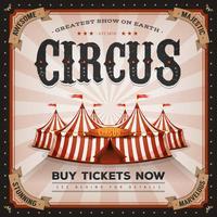 Vintage och Grunge cirkusaffisch