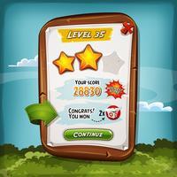 Level Score Board mit Bonus für Spiel Ui