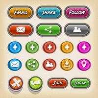 Ikoner och knappar för spel Ui