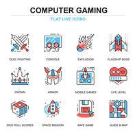 fritid mobil spel ikonuppsättning