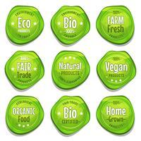 Bio och Eco Seal Stamper vektor