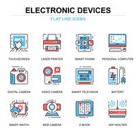 Elektronische Geräte-Icon-Set vektor