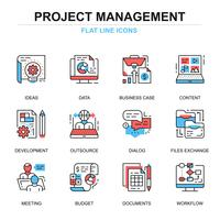 Projektmanagement-Icon-Set vektor