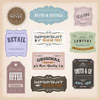 Vintage Etiketter Ans Tecken