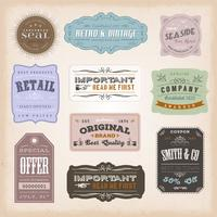 Vintage Labels Ans Zeichen vektor