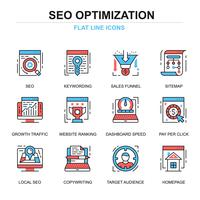 SEO Optimering Ikoner Set