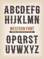 Vintage Western und Zirkus ABC-Schrift