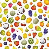 sömlös frukt ikoner bakgrund vektor