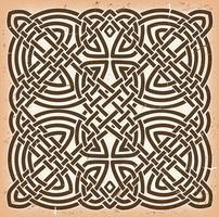 Vintage Grunge Celtic Mandala Bakgrund