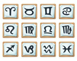 stjärntecken och ikoner vektor