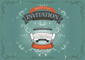 Vintage Einladung Poster Hintergrund vektor