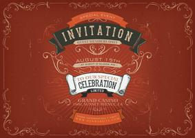 Vintage Einladung Poster Hintergrund