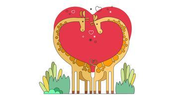 Giraffen-Paar-Vektor vektor