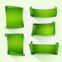 Grünes Pergament-Scroll-Set