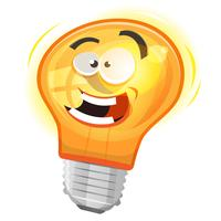 Die Glühbirne vektor