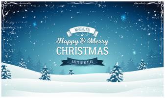 Weinlese-Weihnachtslandschaftsweiter Hintergrund