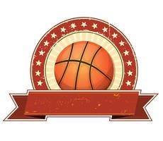 Basketball Grunge und Vintage Banner vektor