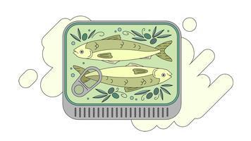 Sardinen in Olive Vector